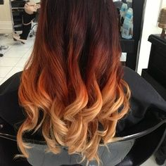 Just updating you on my hairstyle as of late. It's called Phoenix hair—if not officially then I have named it that. I get my hair. Blond Ombre, Red Ombre Hair, Dyed Blonde Hair, Purple Hair, Red Blonde, Purple Ombre, My Hairstyle, Cool Hairstyles, Phoenix Hair