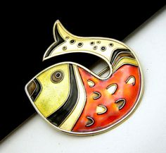 Vintage Norway David Andersen Sterling Enamel by SweetThingsJewels, $199.50 Polymer Clay Fish, Fish Illustration, Precious Metal Clay, Enamel Jewelry, Pewter, Norway, Brooches, Jewelry Collection, Jewerly