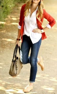 Skinnies, cardigan, button up shirt for fall