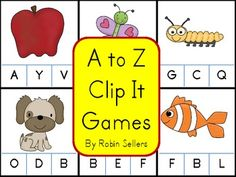 Practice matching beginning letters for each letter in the alphabet to pictures with these fun clip it letter recognition activities and games TpT$