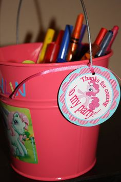 cute idea pails with stickers!