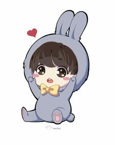 Image shared by Annie. Find images and videos about cute, kpop and bts on We Heart It - the app to get lost in what you love. Jungkook Fanart, Bts Jungkook, Kpop Fanart, Taehyung, Bts Chibi, Anime Chibi, 5 Anime, Cartoon Wallpaper, Bts Wallpaper
