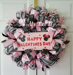Happy Valentine's Day! Check out this item in my Etsy shop https://www.etsy.com/listing/262471298/deco-mesh-valentines-day-wreath-in-pink