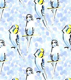 Budgies | Jen Moules Textile Design