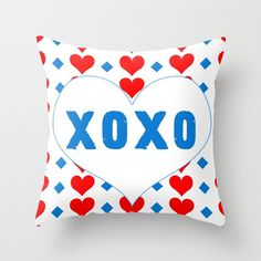 NEW YEARS SALE xoxo Pillow Cover6 sizes4 by BacktoBasicsPillows