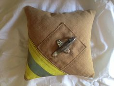 Firefighter Wedding Ring Pillow by rekindledpride on Etsy, $30.00