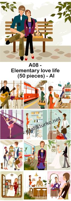 A08-Elementary Love Life-50 pieces-AI