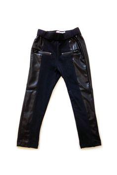 Black Moto Leather Leggings via Hatched Baby