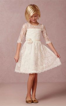 immagine 1 - Abito da Cerimonia Bambini Formale Fiore Pizzo Pageant Girls, Pageant Dresses, Gowns For Girls, Girls Dresses, Lace Flower Girls, Flower Girl Dresses, Young Fashion, Kids Fashion, Hairstyles For Gowns