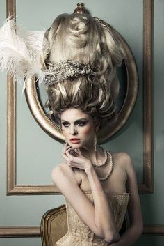 Marie Antoinette Inspired Wig