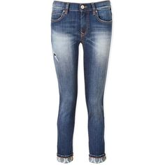 Vivienne Westwood Anglomania Billy Slim Boyfriend Jeans (£150) ❤ liked on Polyvore featuring jeans, medium denim wash, slim fit jeans, boyfriend crop jeans, straight leg jeans, ripped blue jeans and slim boyfriend jeans