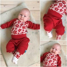 #vilma har fått nytt heimesydd ullsett. Ullen er fra #myllymuksut #syselv #heimelaga #homemade #sewing #sytilbarn #ullbarn #heiltspesiellogjubel #heiltspesiell #ullergull Onesies, Fabrics, Barn, Photo And Video, Kids, Clothes, Fashion, Tejidos, Young Children