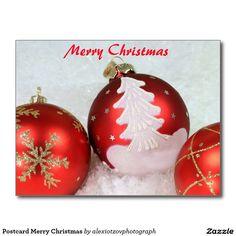 Postcard Merry Christmas #Post #Card my #design for #sale @Zazzle/alexiotzovphotograph #Christmas #holidays #winter #stockphotography