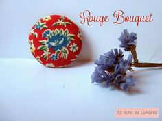 Rouge Bouquet brooch handmade by Pili B♥ | Broche Rouge Bouquet hecho a mano por Pili B♥