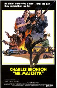 """Majestyk"""" directed by Richard Fleischer based on an Elmore Leonard story. Starring Charles Bronson with Linda Cristal. Classic Movie Posters, Movie Poster Art, Jean Pierre Aumont, Actor Charles Bronson, Bud Spencer Terence Hill, Elmore Leonard, Prison, Cinema Posters, Movie Posters"""