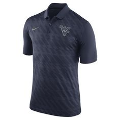 West Virginia Mountaineers Nike Team Logo Performance Polo - Navy - $64.99