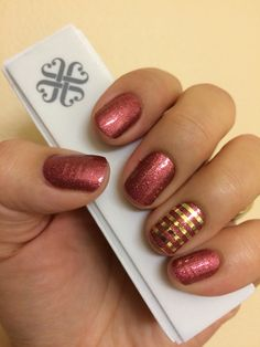 Cherry Ice and Metallic Gold Pinstripe Jamberry Nail Wraps! Check them out at MarySeto.JamberryNails.net!