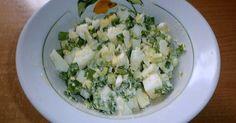 Салат Ромашка яйцо с зеленым луком