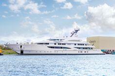 Lürssen announced the launch of the 85m motor yacht ARETI aka Project Sasha