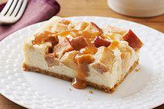 Caramel-Apple Cheesecake Caramel Apple Cheesecake, Cheesecake Recipes, Caramel Apples, Dessert Recipes, Cheesecake Bars, Dessert Ideas, Caramel Recipes, Apple Recipes, Sweet Recipes