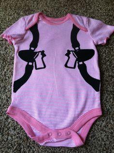 Gun Holster Baby Onesie size 12 months Girls Pink by leialove00