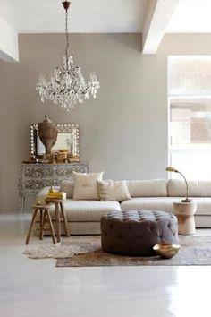 taupe wandfarbe im wohnzimmer mit grau und weiß kombiniert ... - Taupe Wohnzimmer