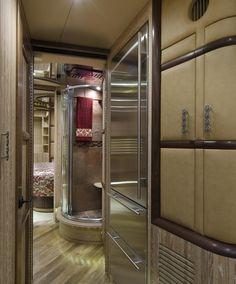 2013 Liberty Coach Elegant Lady #754   Custom Coaches-Liberty Coach Motorhome Interior, Rv Interior, Luxury Interior, Luxury Vehicle, Luxury Rv, Rv Homes, Motor Homes, Top Designer Handbags, Luxury Motorhomes