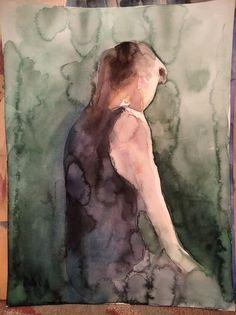 Watercolor - autoportrait My Works, Watercolor Paintings, Art, Self Portraits, Art Background, Watercolor Drawing, Kunst, Watercolors, Gcse Art