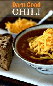 This Darn Good Chili Recipe is a chili cook off winner! So easy to make and great as a freezer meal. #chili #freezermeals #crockpotmeal #slowcookermeal