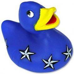 Bud Duck Mini Luxury British Flag Bath Toy 7cm Collectable Ducks Collectors Gift