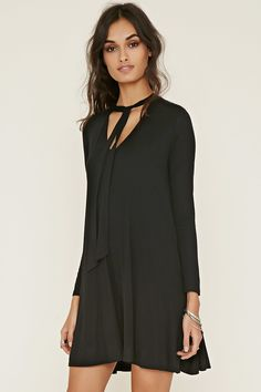 Tie-Neck Dress | Forever 21 - 2000176445