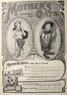 1902 Mother's Crushed Oats Cereal Ad