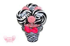 zebra sweet 16 center pieces - Google Search