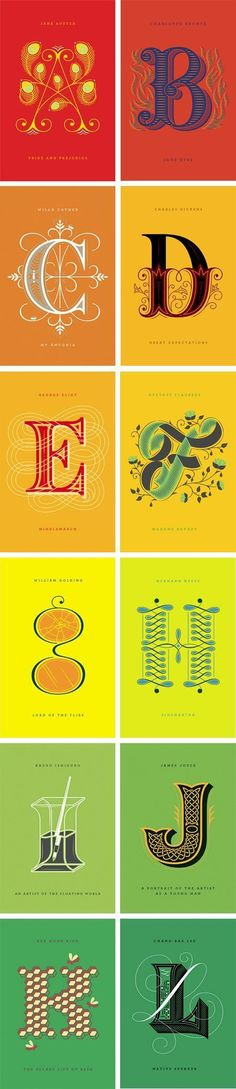 Penguin Drop Caps Series by Jessica Hische and Paul Buckley. Jessica Hische and Paul Buckley have collaborated on an exciting new project, a series of cover designs for classic literature featuring Jessica's Drop Caps. Jessica Hische, Cool Typography, Graphic Design Typography, Lettering Design, Japanese Typography, Typography Poster, Calligraphy Letters, Typography Letters, Caligraphy