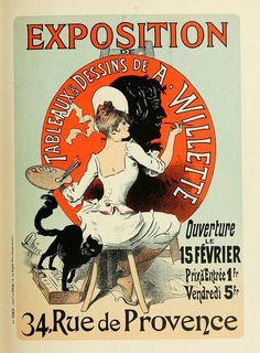 Exposition - Tableaux, Dessins de A. Willette