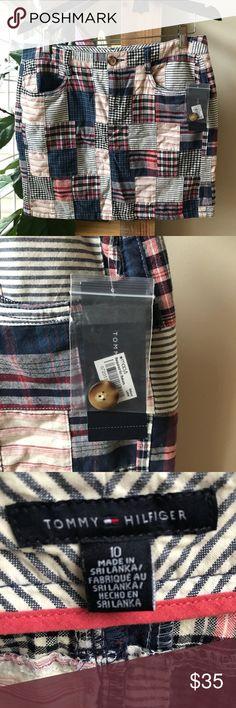"🌸NWT🌸 Tommy Hilfiger Madras skirt Super cute and preppy Madras skirt size 10.  Skirt length 17 "" Tommy Hilfiger Skirts Midi"