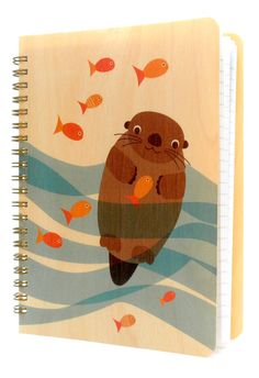 Otter School of Fish * Journal by Night Owl Paper Goods - $18.50