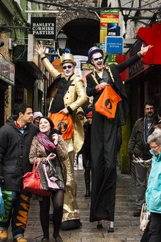 Stilt Walkers #tradfest Mickey Mouse, Disney Characters, Fictional Characters, Punk, Costumes, People, Fashion, Moda, Dress Up Clothes