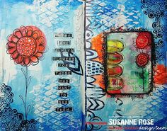 Use STAMPGIRLSUSANNE to save 20% in the #stamplorations online store. #mixedmedia #mixedmediaart  #artjournalpage #artjournaling #handcarvedstamps #art #video #tutorial #artplorations #stencilart