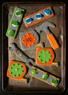 Tool Cookies.  Love the level!