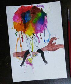 E que o excesso na explosão se transforme em uma mistura de cores.#desenho #design #draw #drawing #drawing2me #arte #art #artistic #sketch #sketchbook #grafites #traços #cores #colors #aquarela #aquarele #designersbrasileiros #desenh4ando #explosao