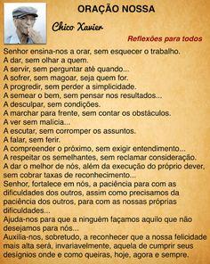 Acesse esta e outras orações... (clique na imagem)  #ChicoXavier #Reflexao