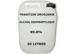 L'alcool isopropylique est aussi appelé : Isopropanol,  Propan-2-ol, Propanol, IPA, Diméthylcarbinol, Carbinol diméthylique.  L'alcool isopropylique est utilisé : dans les additifs de l'essence, pour lla fabrication des huiles et des cires, le dégraissage et décapage dans l'industrie.