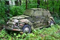 VW Stone sculpture