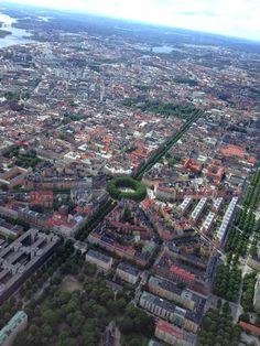 Karlaplan, Östermalm, Stockholm from above