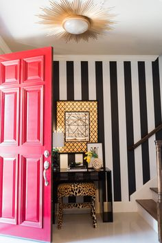 A Fearlessly Designed Home In Dallas Shop domino for the top brands in home decor and be inspired by celebrity homes and famous interior designers. domino is your guide to living with style.Branding Branding may refer to: House Design, Interior, Decor Inspiration, Home Decor, House Interior, Room Decor, Interior Design, Funky Home Decor, Striped Walls