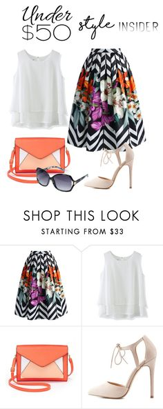 """""""Skirts under $50"""" by shistyle ❤ liked on Polyvore featuring Chicwish, Apt. 9, Charlotte Russe, Avenue, under50 and skirtunder50"""