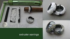 https://flic.kr/p/ii93JD | extruder earrings | 50/50 premo/bake&bend