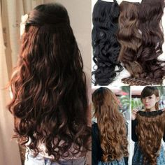 Clip In curly 17 inches 1pcs Hair Extensions Any Color Length tangle free hot sale like human Hair #Wholesale Lingerie Extreme. $13.99