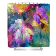 Abstract Flower 0800 Shower Curtain for Sale by Rafael Salazar
